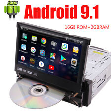 Android 9.1 Single 1DIN Car CD DVD Player GPS Navi Touch Stereo Radio DAB 7