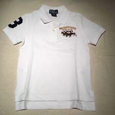 POLO RALPH LAUREN classic White triple pony logo collar Shirt NWT $45 3T