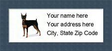 "Miniature Pinscher Return Address Labels - Personalized ""Buy 3 Get One Free"""