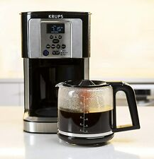 *New* KRUPS EC324050 Savoy Programmable Coffee Maker 14 Cup, Black/Silver