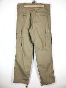 Men's Carhartt WIP Cargo Pants Trousers Casual Beige Size - 32 / 32