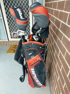 WILSON X31 MENS COMPLETE GOLF SET +DELUXE GOLF STAND CARRY BAG / RIGHT HAND