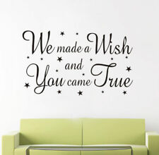 We Made a Wish You Came True Wall Decal Vinyl Sticker Mural Decor Art Words