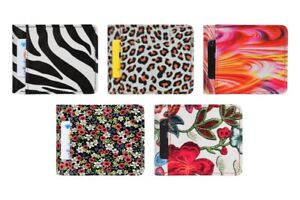 Women Printed Leather Wallets with Coin Pocket Credit Card Money Bifold Purse