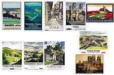 CITY OF YORK & YORKSHIRE - TRAVEL POSTER POSTCARD SET # 1