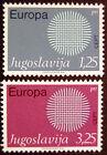 JUGOSLAVIA 1970: EUROPA SERIE COMPLETA NUOVI COME DA FOTO