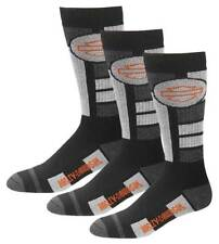 Harley-Davidson Men's Ultra Cushion Wool Riding Socks, 3 Pairs - Black