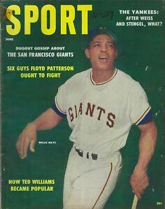 June 1958 Sport Magazine Willie Mays SF Giants Warren Spahn Milwaukee Brave HOF