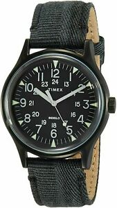 Timex Men's TW2R68200 MK1 40mm Black Dial Canvas Watch