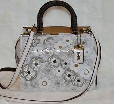 NWT! COACH 1941 Rogue 25 Floral Tea Rose Satchel Leather Tote Bag Purse Handbag