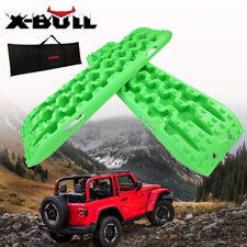 X-BULL Recovery tracks Sand tracks 4WD 2pc 10T Sand/Snow/Mud tracks New Green4x4