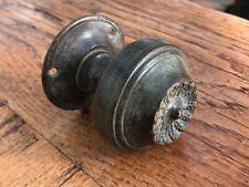 More details for edwardian ornate brass door handle / pull