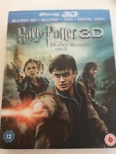 Harry potter Deathly hallows 2 3D  (with slip case) (VGC)(Blu Ray)