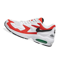 NIKE MENS Shoes Air Max 2 Light - White, Black, Red & Green - AO1741-101