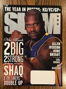 SLAM Basketball Magazine September 2001 - Shaquille Cover + Kobe/Iverson Poster!