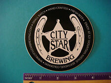 Beer Collectible STICKER ~*~ CITY STAR Brewery ~ Berthold, COLORADO Hand Crafted