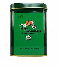 Organic Green tea High Mountain Loose Leaves Tea  3 OZ in Tea Tin