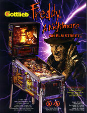 Gottlieb FREDDY A NIGHTMARE ON ELM STREET Pinball Machine Flyer Halloween NOS