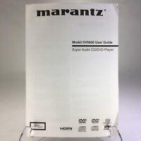 Original MARANTZ DV6600 Super Audio CD/DVD Player Owner's Manual