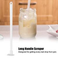 """9"""" Last Drop Silicone Mini Spatula & Jar Scraper Scoop Long Handle Tool- new--A"""