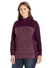 NEW Columbia Womens 1X Space Dye Top Lightweight Pullover 1/2 Zip Purple Dahlia