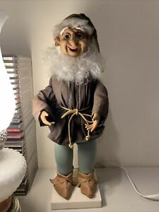 Vintage Telco Motionette Animated Elf Gnome Christmas Figure Statue 1990 WORKS