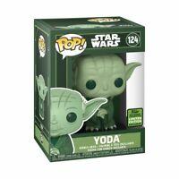 Star Wars - Yoda Green ECCC 2021 US Exclusive Pop! Vinyl [RS] -FUN54273-FUNKO