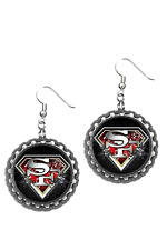 San Francisco Sanfrancisco 49ers earrings earring set pair earrings superman