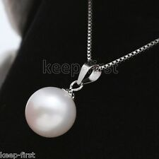 New Rare Huge Natural White 14mm South Sea Shell Pearl Pendant Necklace AAA+
