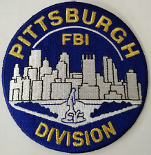 DOJ FBI Federal Bureau of Investigation Pittsburgh Division Cloth Patch