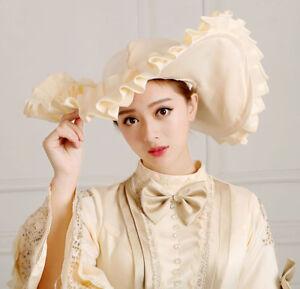 Women Formal Dress Kentucky Derby Hat Wide Brim Church Cap Medieval Costume