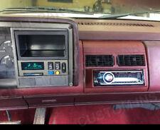 Radio Red Burgundy Single Din Dash Kit Pocket Bezel Fits Chevy Gmc Trucks 88-94
