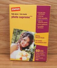 Staples High Glossy Photo Supreme (19897) 60 Sheets 4 in/po x 6 in/po 300g/m