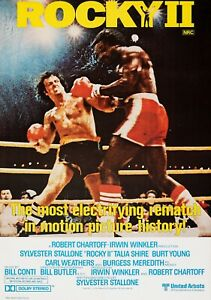 ROCKY II Classic 70's Vintage Movie Poster - Wall Film Art Print - Stallone