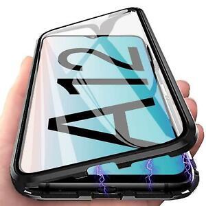 Hülle Magnet für Samsung Galaxy A12 M12 Schutzhülle Glas Cover Handy Panzer Case