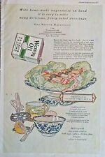 1920s Wesson Oil Salad Art Thousand Island Dressing Recipe Large Vtg Print Ad