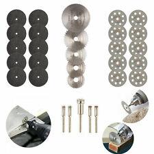 30Pcs Cutting Wheel Set for Mini Drill Dremel Rotary Tool Accessories w/ Mandrel