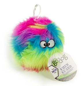 goDog Furballz Rainbow Plush Dog Toy with Chew Guard Technology, Small, Rainbow
