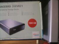 HARD DISK ESTERNO 2,0 USB  1,5TB 1500GB  FUJITSU SIEMENS