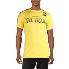Asics Mens Welcome To The Dojo Yellow Fitness T-Shirt Athletic L Bhfo 7117