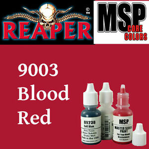 BLOOD RED 9003 -MSP core 15ml 1/2oz paint pot peinture figurine REAPER MINIATURE