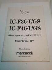 ICOM IC - F3 GT/GS IC - F4 MANUALE D'ISTRUZIONE ITALIANO