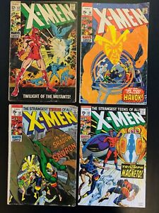 X-MEN # 52, 58, 60, 63  - Comic Book Collection Lot of 4