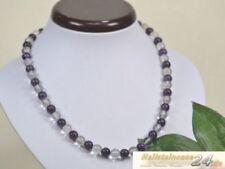 Bergkristall Modeschmuckstücke mit Amethyst-Hauptstein