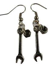 Ohrringe Ohrhänger Hänger Schraubenschlüssel und Mutter Handwerker Hobby 6983