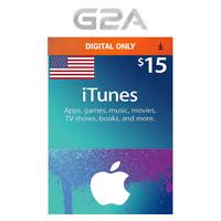 iTunes Gift Card $15 USD Key - 15 Dollar US Apple Store Code - Digital Download