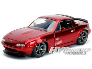 JADA 1:24 N/B 1990 Mazda Miata Diecast Model Car Red 30937