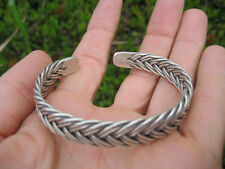 999 Fine Silver Hill Tribe Bangle Bracelet Thailand Jewelry art A15