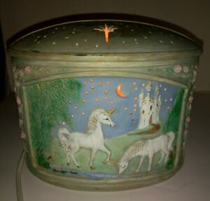 UNICORN Ceramic Night Light Table Lamp inline White On/off Switch Magical castle