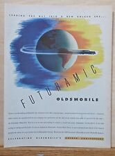 1947 magazine ad for Oldsmobile - Olds races around Earth, 50th Anniversary